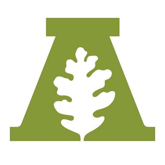 logo leaf in capital A